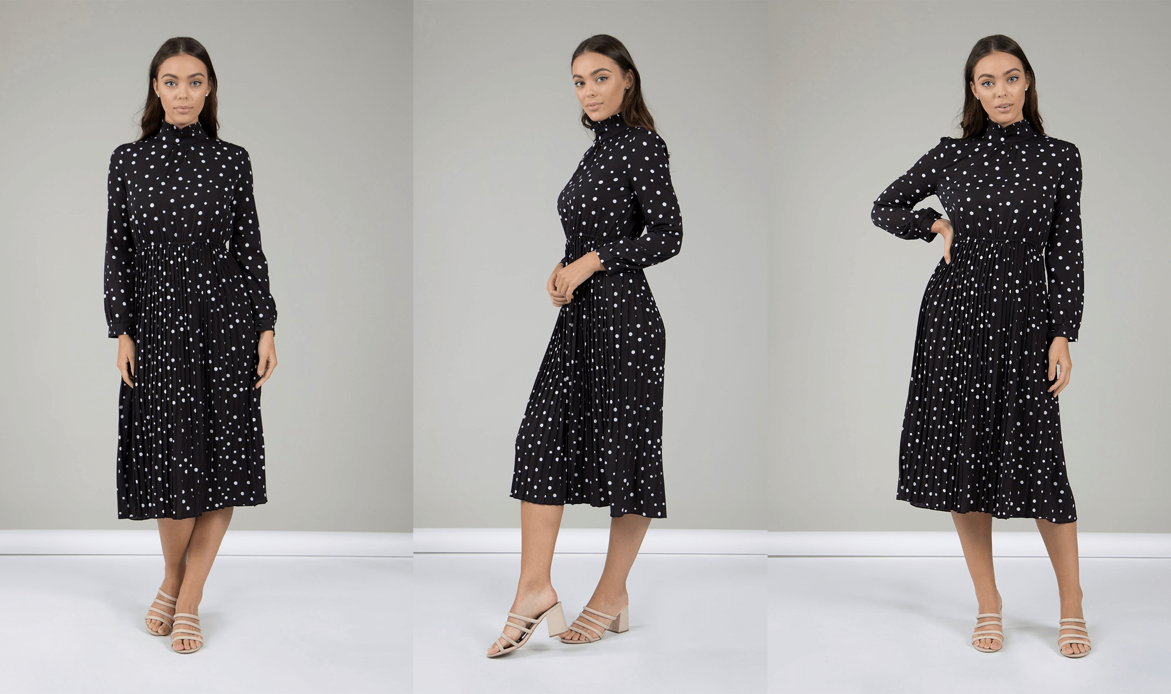 How To Get The Most Wear From Your Dresses - Polka Dot Pleated Dress | Femme Connection