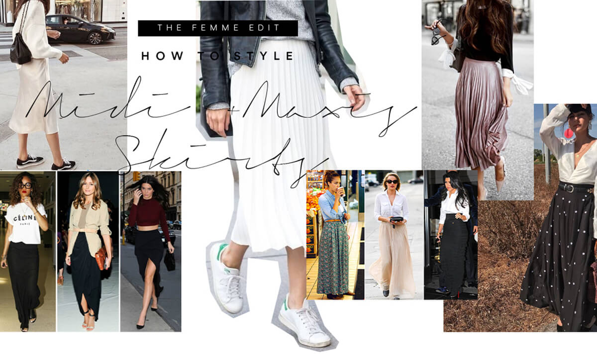 How to Style Midi & Maxi Skirts | Femme Connection