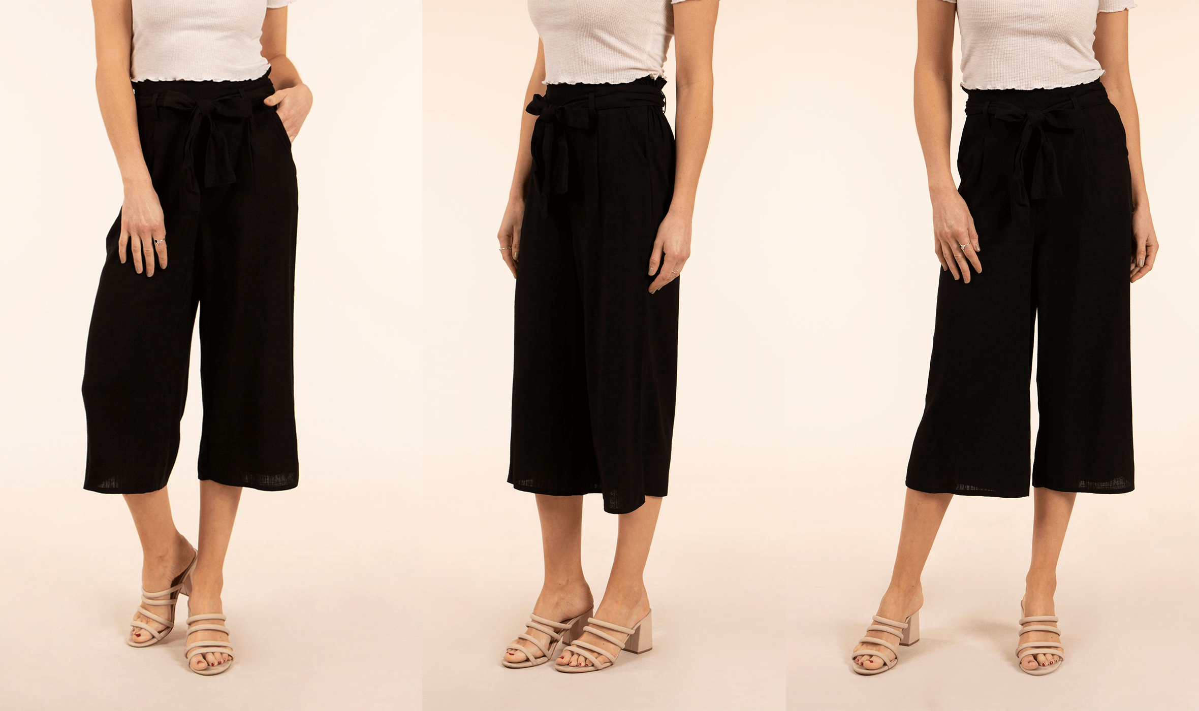 Spice Up Your Silhouette with Culottes - Basic Solid Culottes | Femme Connection