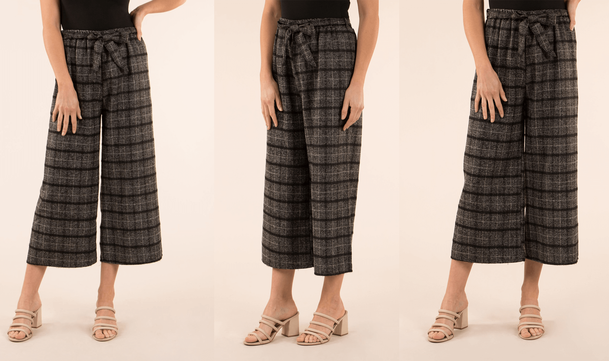 Spice Up Your Silhouette with Culottes - Check Culottes | Femme Connection