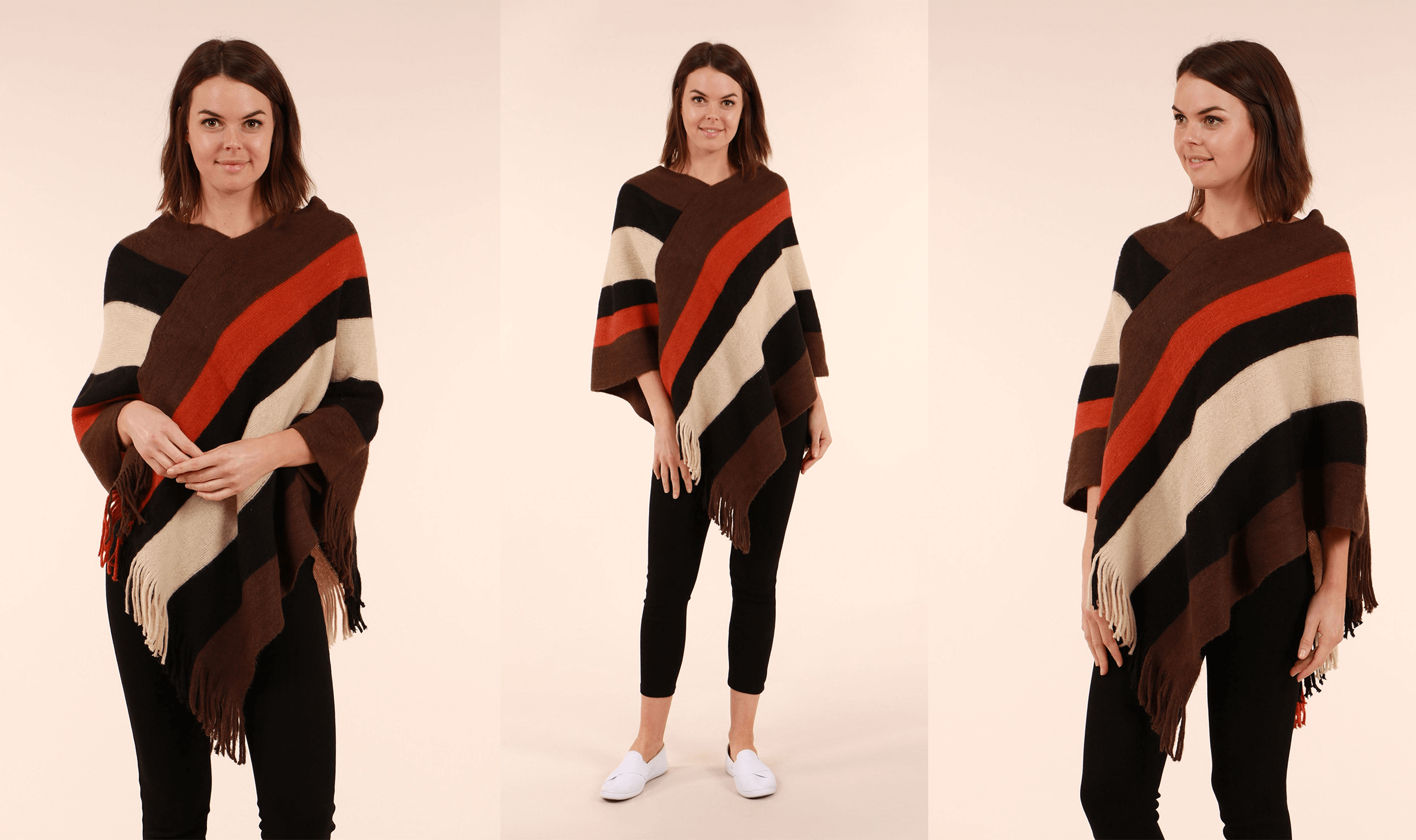The 5 Items You Need to Be Wearing This Month - Stripe Poncho - Femme Connection
