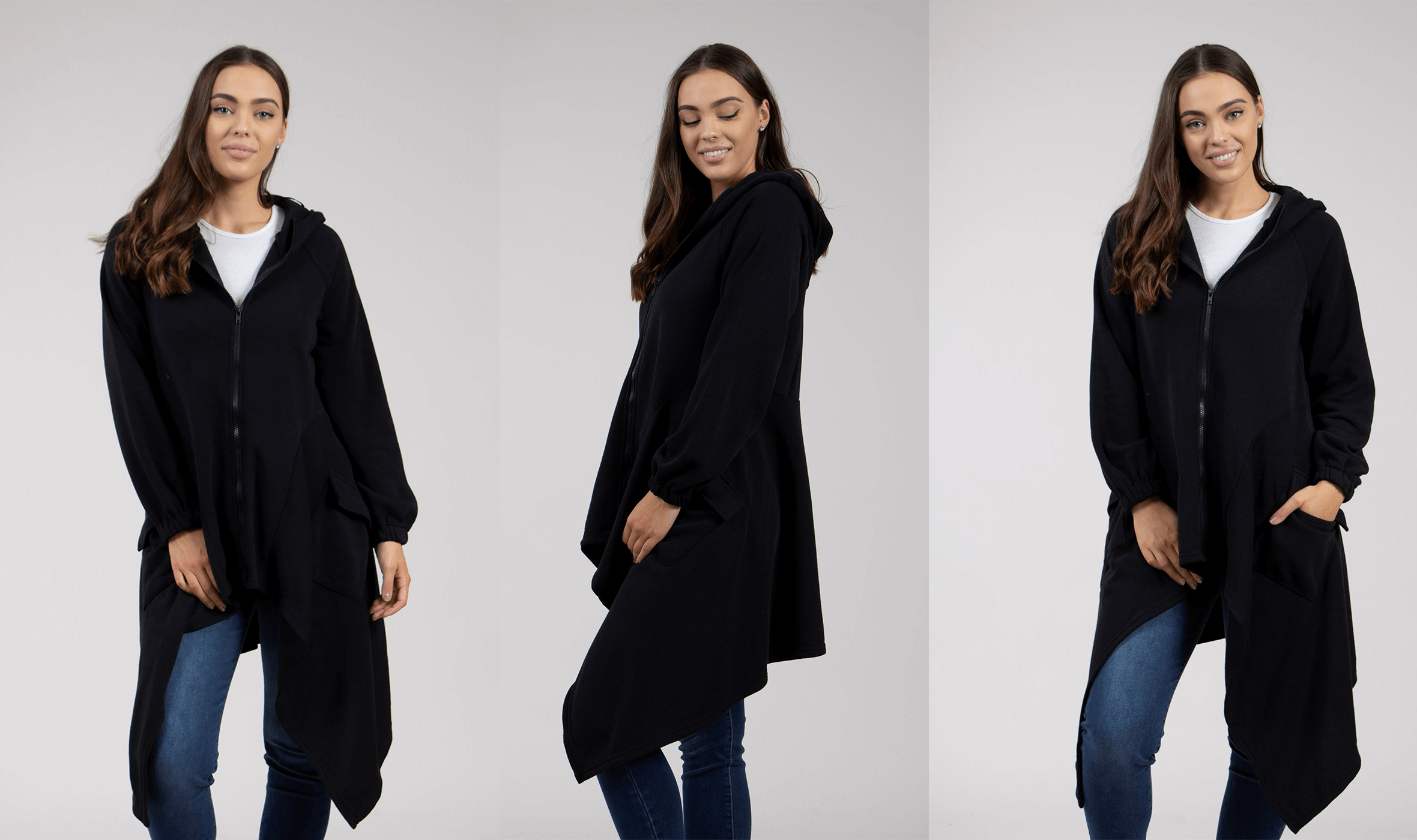 Winter Warmers The Jacket Edit - Hooded Asymmetric Jacket | Femme Connection