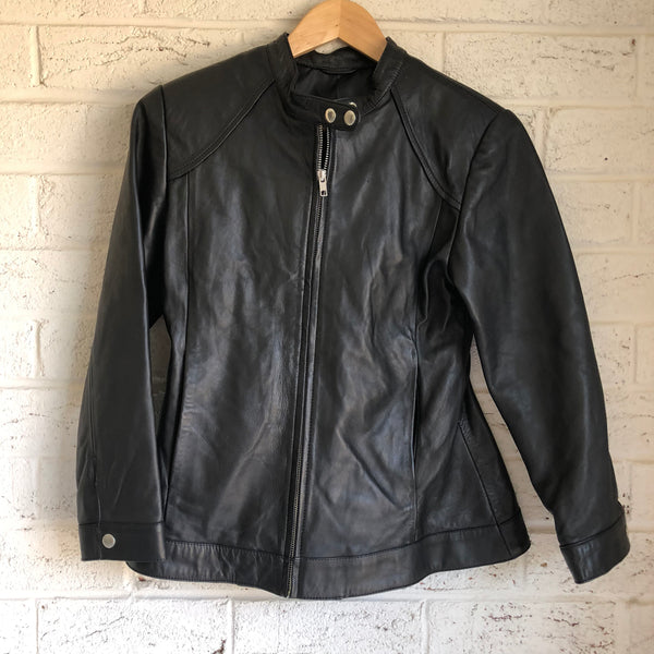 the Mini Hobo - Upcycled Black Leather Jacket