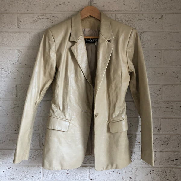 the Hobo - Upcycled Cream Leather Jacket