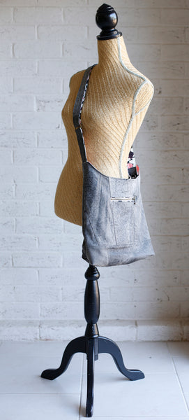 the Hobo - Upcycled Grey Suede Leather Jacket