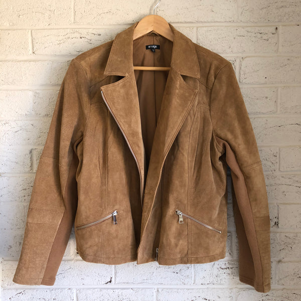 the Hobo - Upcycled Suede Leather Jacket