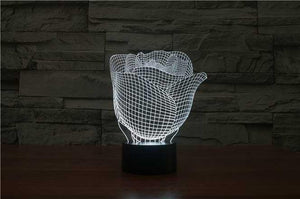 Rose 3D Illusion Lamp - Lampeez