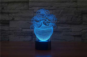 Flower Vase 3D Illusion Lamp - Lampeez