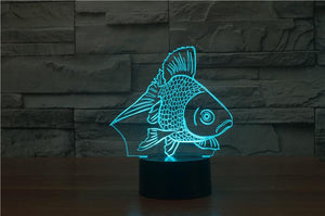 Goldfish 3D Illusion Lamp - Lampeez