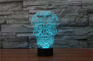 Skull Buster 3D Illusion Lamp - Lampeez
