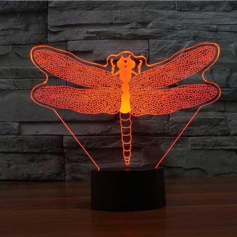 Dragonfly 3D Illusion Lamp - Lampeez