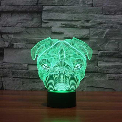 Pug 3D Illusion Lamp - Lampeez