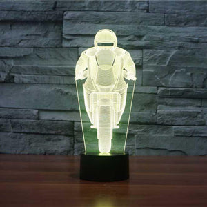 Biker 3D Illusion Lamp - Lampeez
