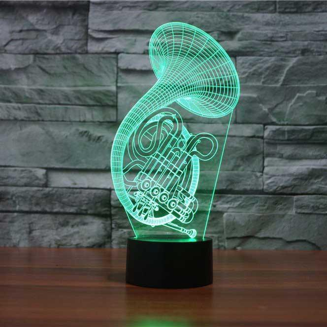 French Horn 3D Illusion Lamp - Lampeez