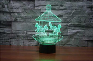 Merry Go Round 3D Illusion Lamp - Lampeez