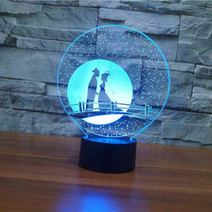 Couple Romance 3D Illusion Lamp - Lampeez