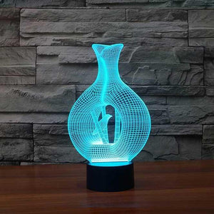 Bamboo 3D Illusion Lamp - Lampeez
