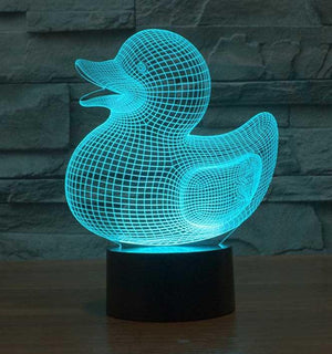 Duck 3D Illusion Lamp