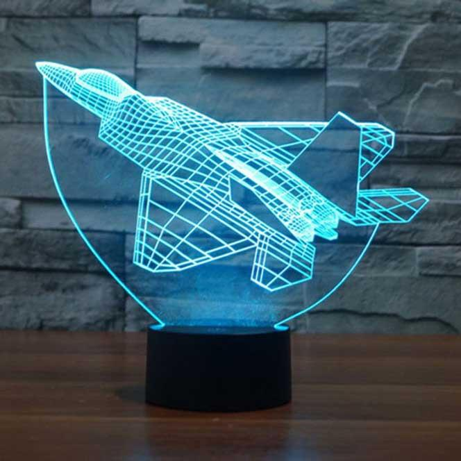 Fighter Jet Plane 3D Illusion Lamp - Lampeez