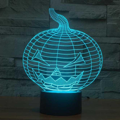 Halloween Pumpkin 3D Illusion Lamp