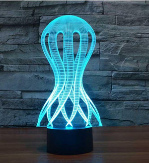 Jellyfish 3D Illusion Lamp - Lampeez