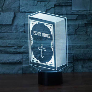 Holy Bible 3D Illusion Lamp - Lampeez