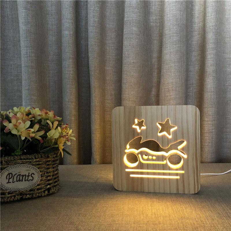 Bike Wooden Lamp - Lampeez