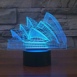 Sydney Opera House 3D Illusion Lamp - Lampeez