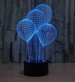 Balloons 3D Illusion Lamp - Lampeez
