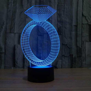 Ring 3D Illusion Lamp - Lampeez