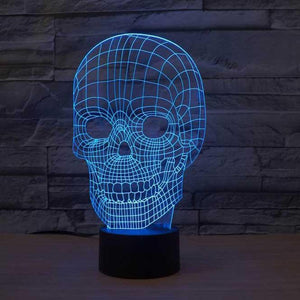 Skull 3D Illusion Lamp - Lampeez