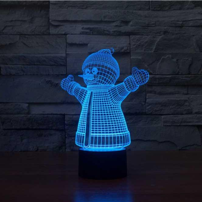 Snowman 3D Illusion Lamp - Lampeez