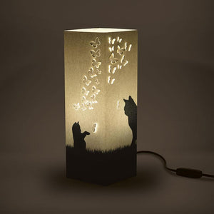 Playful Cats Shadow Illusion Lamp - Lampeez
