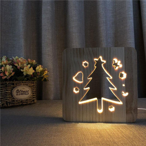 Christmas Tree Wooden Lamp - Lampeez