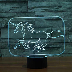 Unicorn 3D Illusion Lamp - Lampeez