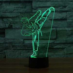 Karate 3D Illusion Lamp - Lampeez