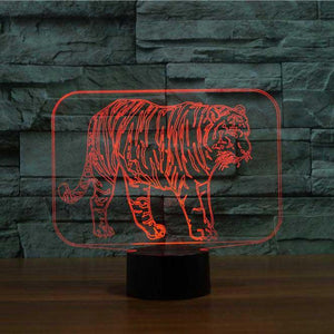 Tiger 3D Illusion Lamp - Lampeez