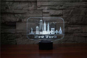 New York (NYC) 3D Illusion Lamp - Lampeez