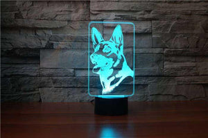 German Shepherd 3D Illusion Lamp - Lampeez