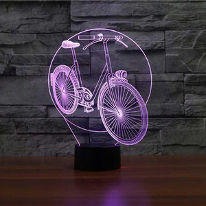 Cycle 3D Illusion Lamp - Lampeez