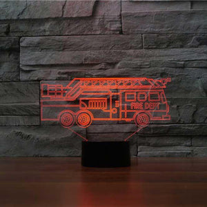 Fire Truck 3D Illusion Lamp - Lampeez