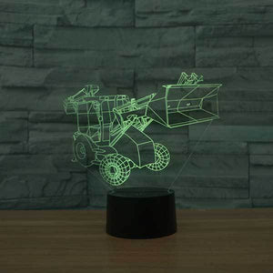 Excavator 3D Illusion Lamp - Lampeez