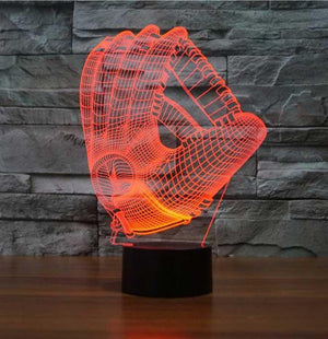 Baseball Gloves 3D Illusion Lamp - Lampeez