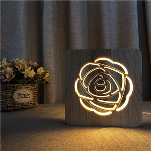 Rose Wooden Lamp - Lampeez