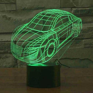 Sports Car 3D Illusion Lamp - Lampeez