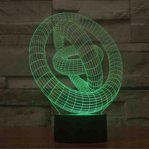 Circles 3D Illusion Lamp - Lampeez