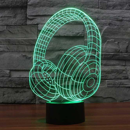 Headphones 3D Illusion Lamp - Lampeez