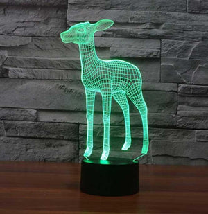 Deer 3D Illusion Lamp - Lampeez