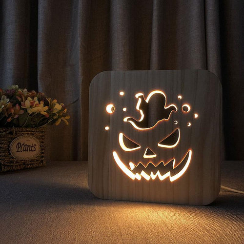 Halloween Wooden Lamp - Lampeez