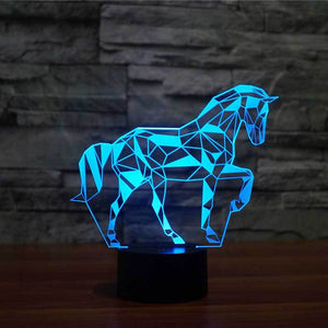 Horse V2 3D Illusion Lamp - Lampeez